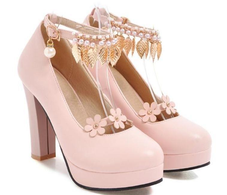 Envío gratis 2018 nuevo estilo de tacón grueso coreano solo zapatos de tacón alto de moda a prueba de agua de las mujeres zapatos y primavera