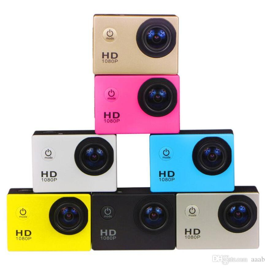 10pcs 1080p Casco Sports DVR DV Cámara Video CAM CAM CAM Full HD Acción Impermeable Bajo el agua 30m Video Libre de EPACKET