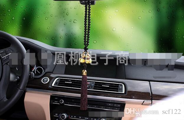 Bao hot sale gold-plated double hoist car pendant car accessories genuine high-end glass jewelry hot gold-plated double hoist car pendant ca