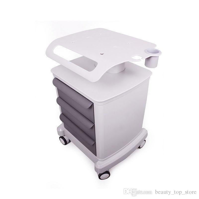 2019 New Professional Trolley rolo móvel Medical Cart Com Sorteios montado suporte Suporte para Beauty Salon Spa HIFU Máquina