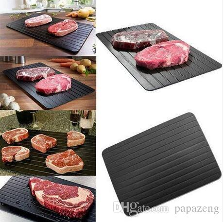 Venta al por mayor de la cocina Bandeja de descongelación más segura y rápida Comida de carne congelada Tablero para descongelar rápido Herramienta de cortar bloques Cuchillos de cocina Accesorios