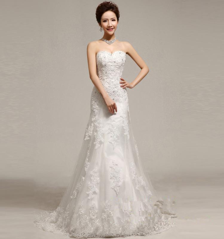 maxi dress free shipping 2018 brides maid dresses organca maxi dresses long Embellished Nice Lace Strapless Style Wedding Dress