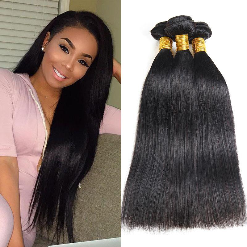Brazilian Human Hair Bundles Straight 3 Bundles Virgin Human Hair 100% Unprocessed Malaysian Mongolian Brazilian Peruvian Remy Human Hair