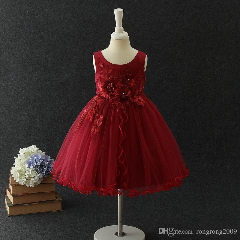 Compre 2018 Nuevo Vestido De Niña Florista Bordado Fiesta De Cumpleaños Vestido De Rendimiento Ropa Para Niños 3 10 Años E1018 A 10252 Del