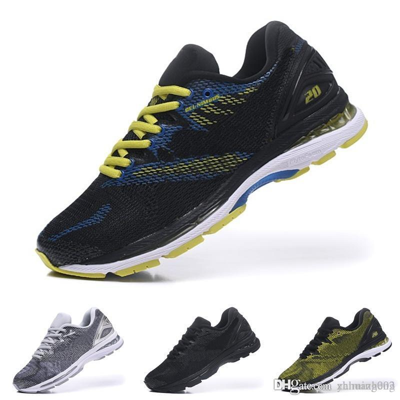 2018 new design gel nimbus 20 originals mens running shoe vermeil olive green t800n 4949 sport sneakers marathon trainer munro shoes pink shoes from z