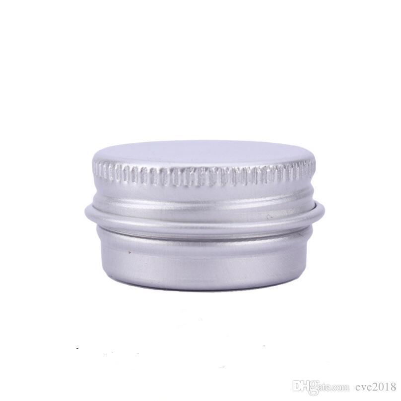 5 ml de Alumínio Bálsamo Tins Pot Jar 5g Cosméticos Lip Balm Gloss Recipientes De Embalagem De Vela Com Rosca LX3126
