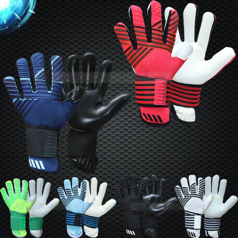 2019 new model top quality adults free shipping Latex fabric Professional Soccer football Goalkeeper Gloves without fingersave