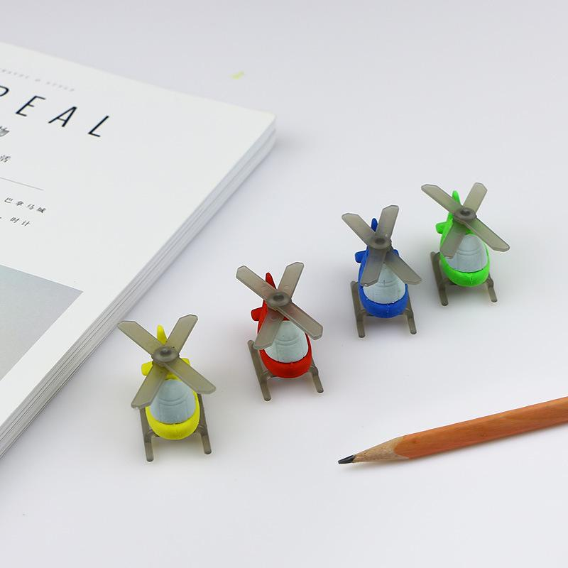 New creative stationery cartoon helicopter modeling eraser children 's school study supplies gifts