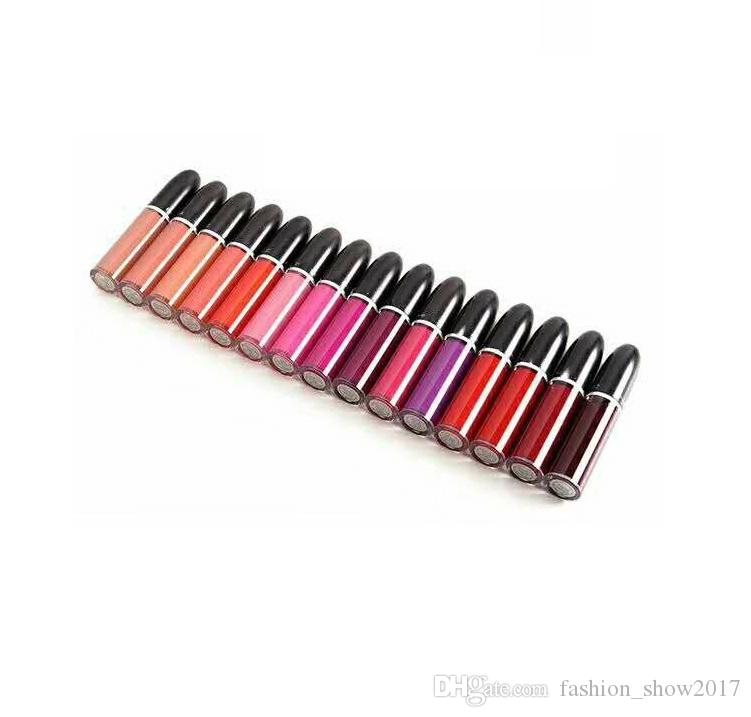 Hot Popular 15 Different Colors Retro Matte Liquid Lip Colour Waterproof Long Lasting Glaze Lipgloss Lipstick
