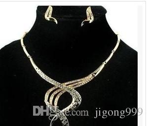 schimmernde violette Diamant-Kristall-Birne Kristall-Spirale-Set-Halskette für Damen