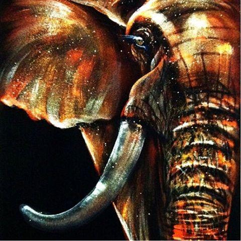 Modern Abstract Animal Elephant HandPainted / HD Stampa moderna Wall Art Pittura a olio su tela. Decorazioni da parete Multi formati / frame Opzioni A113