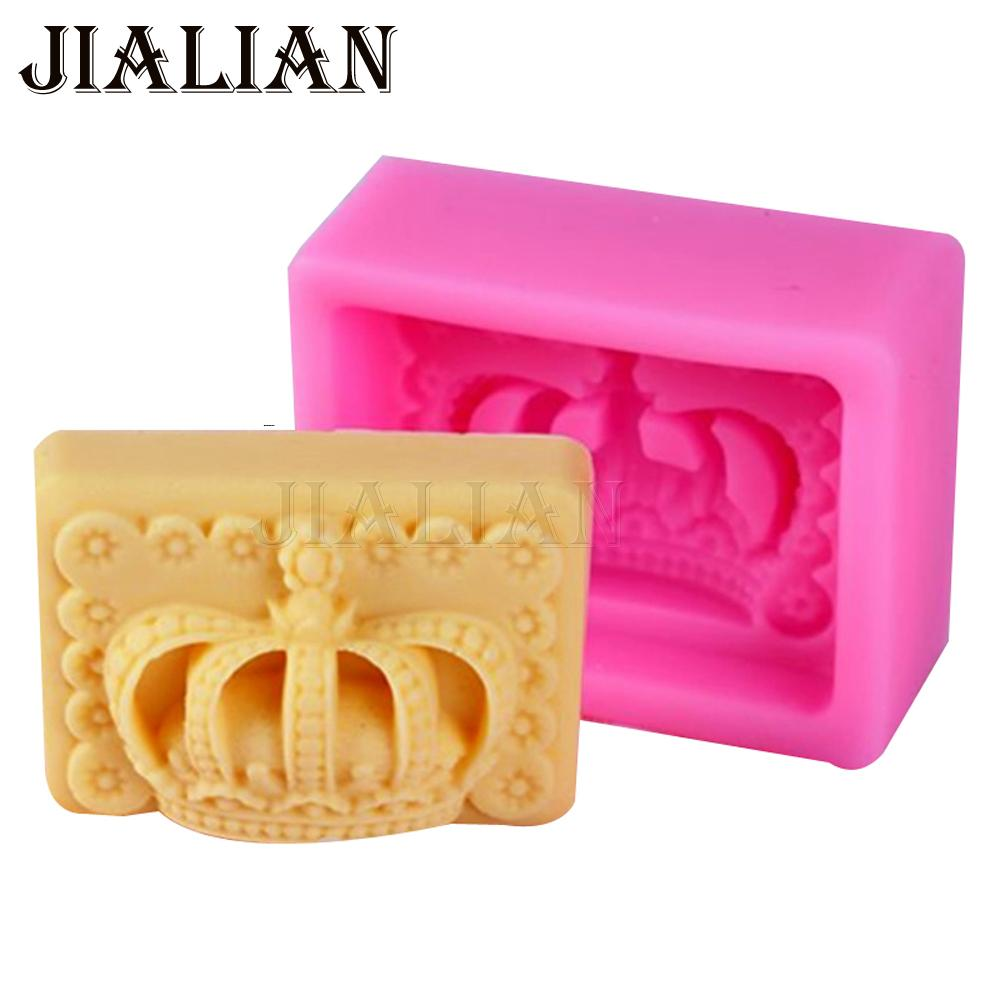 3D Crown Fondant chocolate silicone mold for cake decorating tools Candles, Resin Fimo Clay, Butter, soap Mould T0939