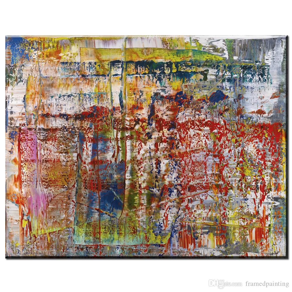Großhandel Moderne Abstrakte Leinwand Kunst Gerhard Richter ...