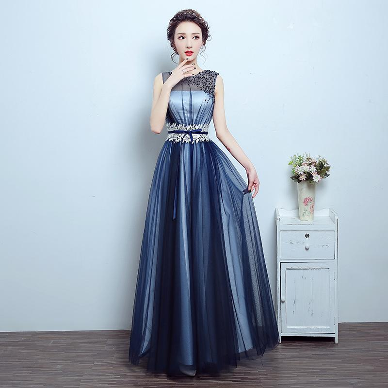 Women Oriental Wedding Gowns Robe Sleeveless Evening Dress Lace Lady's Woman Dinner Banquet Bandage