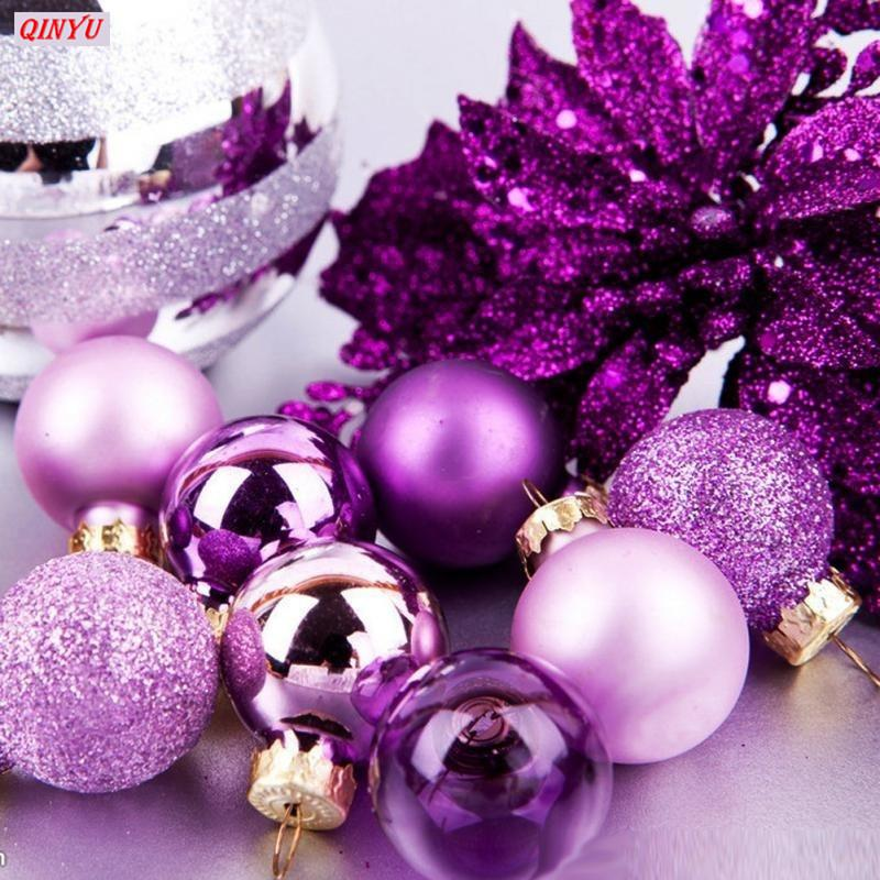 24Pcs/lot For Home Christmas Decorations 3cm Party Ornament Decorations Christmas Tree Decor Ball Bauble Hanging Xmas 7Z HH181