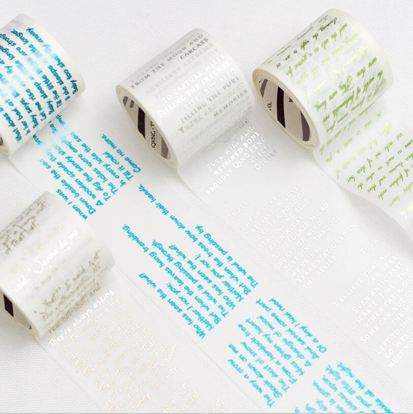 Cartas 4cm * 3m cinta adhesiva DIY de Scrapbooking Etiqueta Etiqueta de cinta de enmascarar 465 Diario / Foto de la decoración 2016