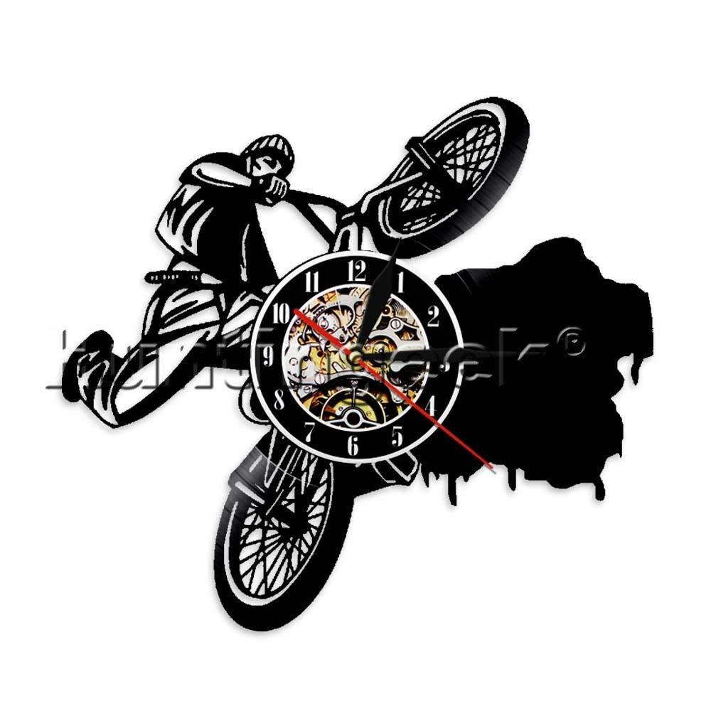Bikers Riding Wall Clock Vintage