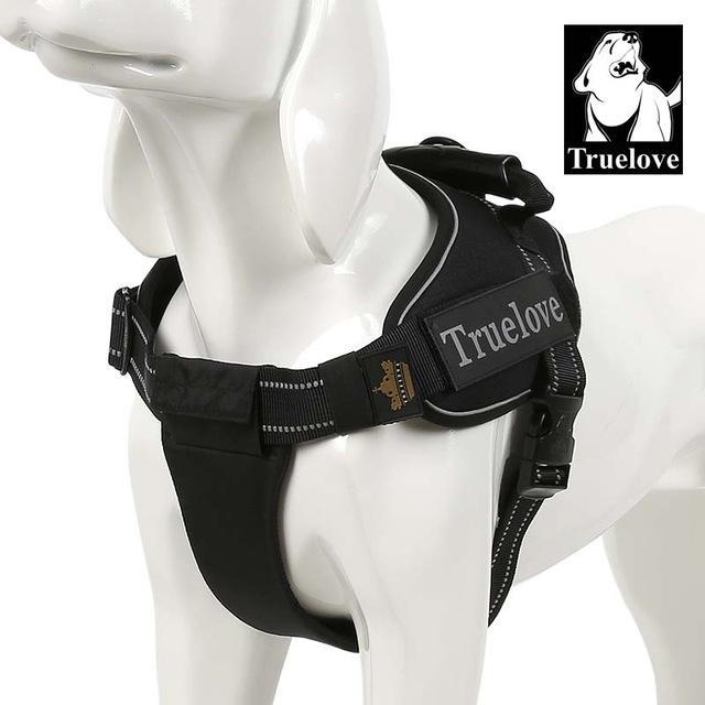 Harnesses Truelove Pet Dog Collar Harness Vest Small Large Mesh Heavy Duty Reflective Harness Dog Pet Supplies For Dogs Dropshipping