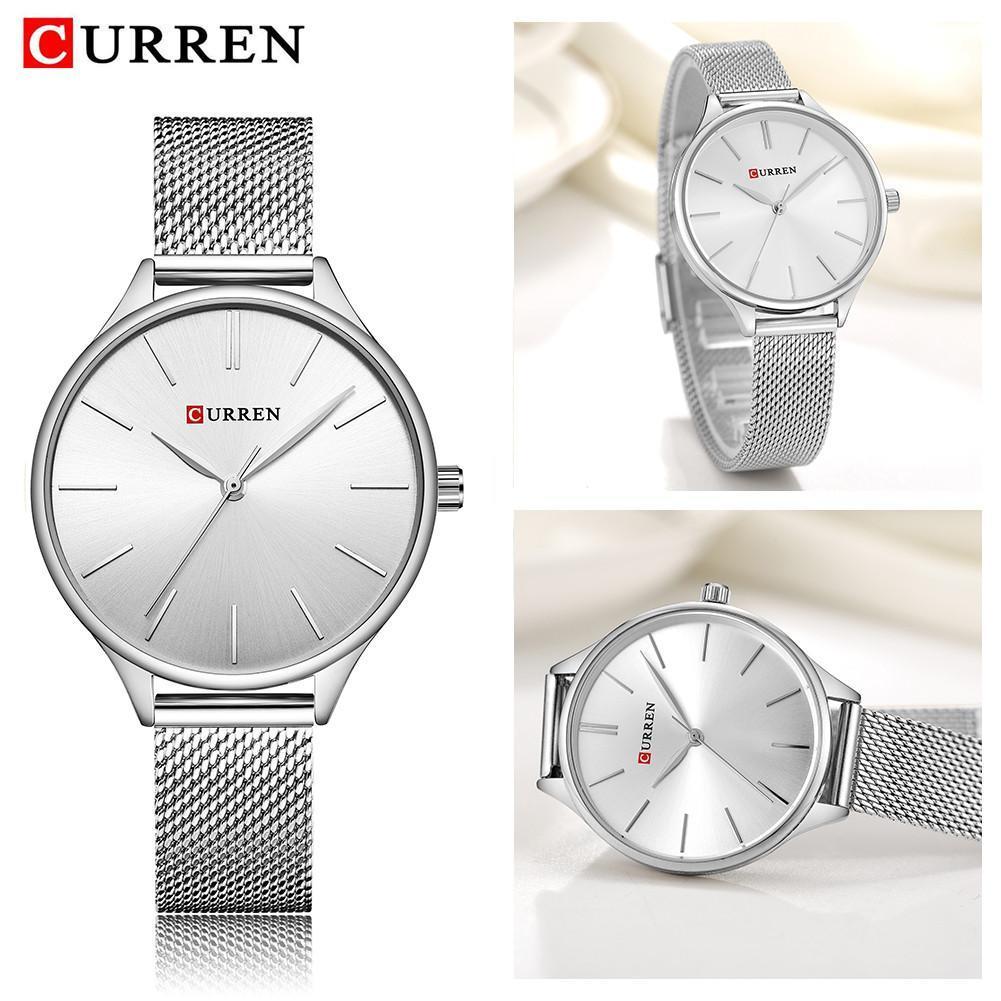 CURREN 9024 Women Casual Fashion Quartz Watch Ultra Thin ...