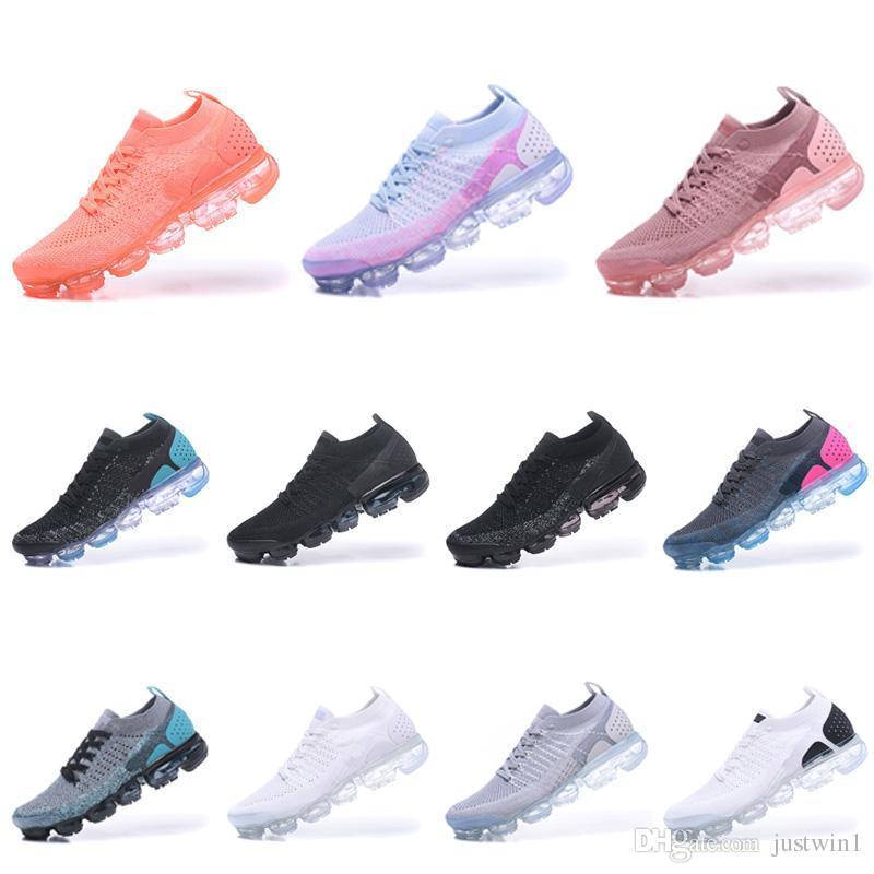 2018 Nike air Vapormax 2.0 Nouveautés Femmes Classiques Outdoor 2.0 Run Chaussures Noir Blanc Sport Shock Jogging Marche Randonnée Chaussures Décontractées