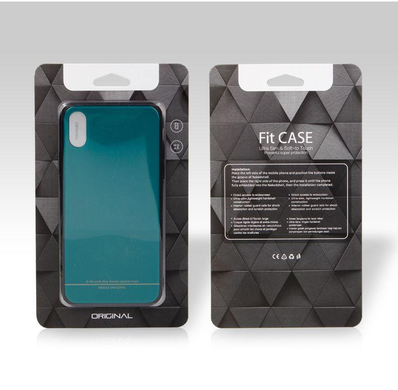 100 pcs En Gros Boîte D'emballage Au Détail Pour Cas de Téléphone Boîte Personnalisée Pour Iphone 8 Note8 Iphone x Universal Mobile Couverture De Boîte D'emballage