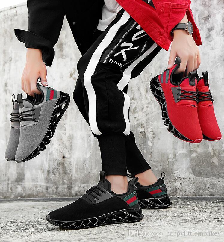 2018 sonbahar erkek spor koşu ayakkabıları yeni sıcak satış rahat ayakkabılar patlamalar bıçak erkek spor ayakkabı ücretsiz kargo
