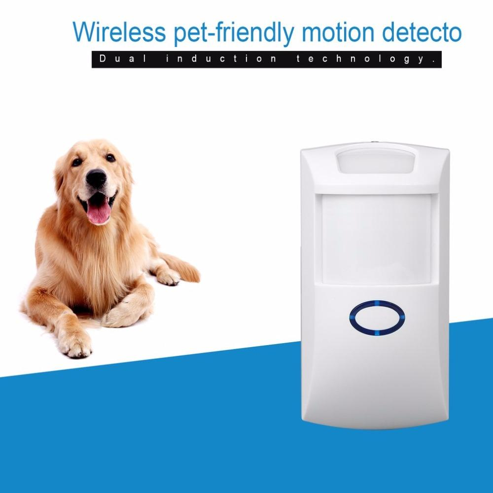 Freeshipping NEW 433 MHz 868.4MHZ Wireless Pet Immune PIR Motion Detector Sensor With White Color for Home Security for our G5S Alarm System