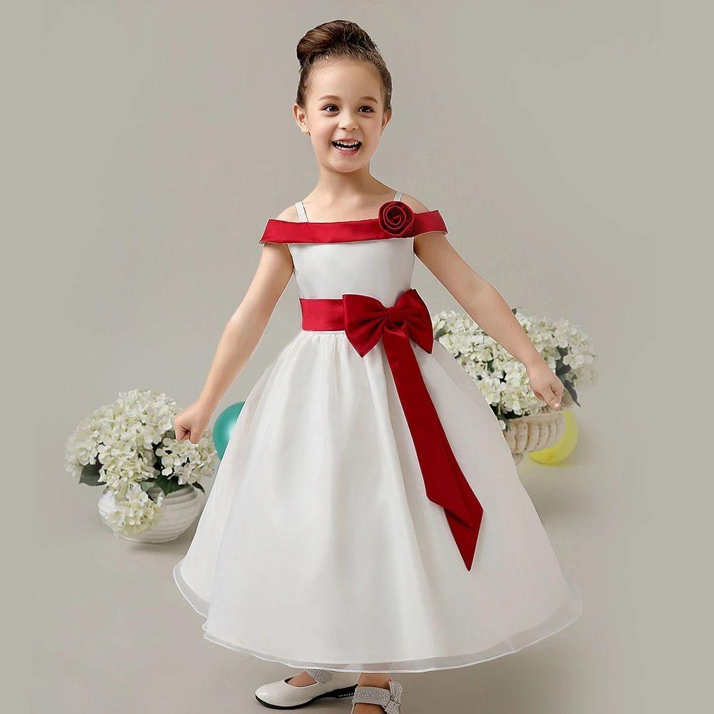 Vestiti Eleganti Da Ragazza.Acquista Abiti Da Ragazza Belle Abiti Da Sposa Con Fiori In Pizzo