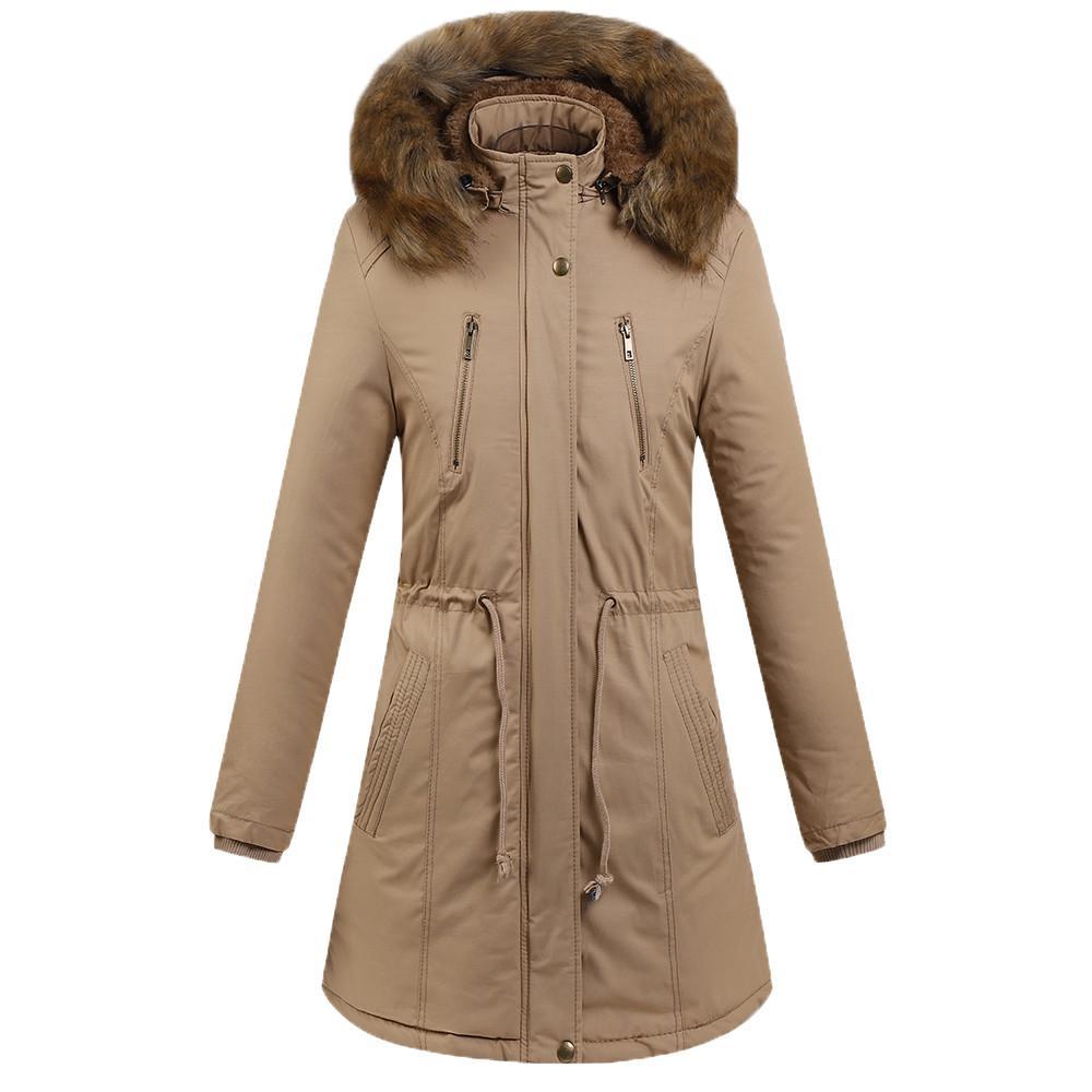 2018 winter parka women Warm Thick Outerwear Hooded Coat Slim Cotton-padded Jacket casual plus size winter coat women jacket