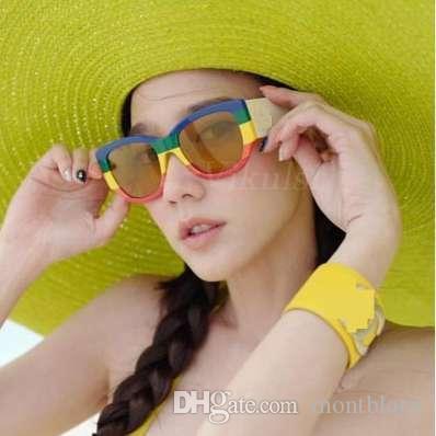 Fashion Square Sonnenbrille-Frauen 2018 Marken-Designer-Regenbogen-Rahmen Damen-Sonnenbrillen Man Brillen Damen Goggles Shades UV400