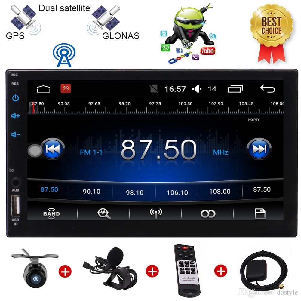 "Backup Camera Eincar Android 6.0 Marshmallow Car Stereo Radio 7"" Digital Touch Screen Double 2 Din Head Unit Steering Wheel Control Bluetoot"