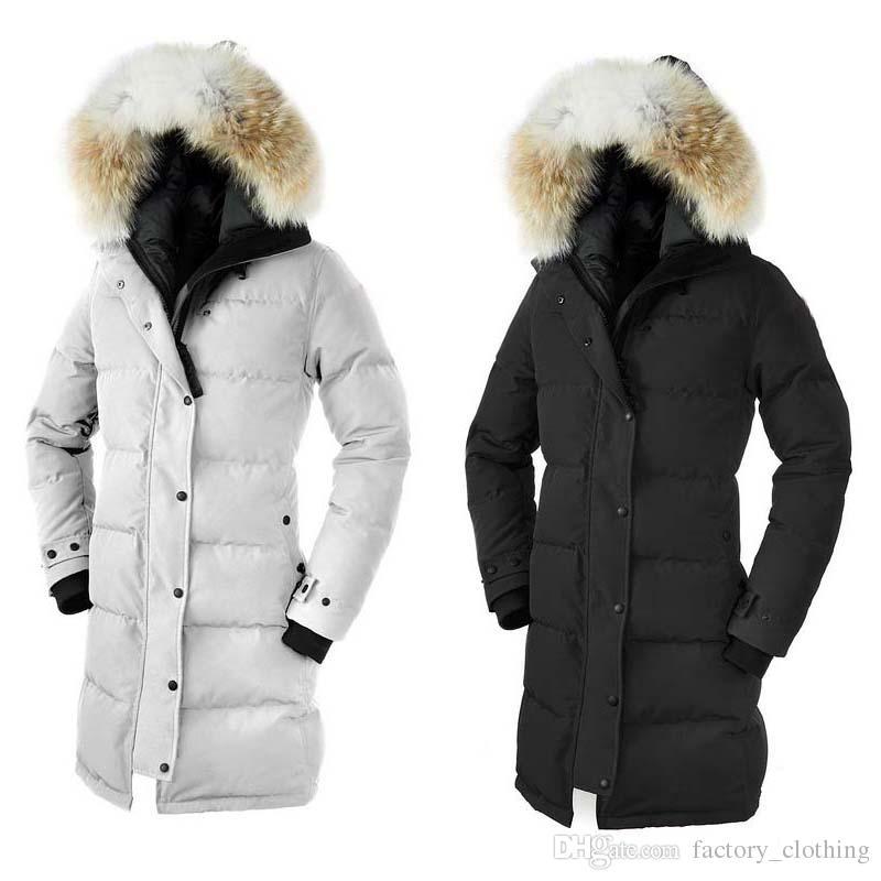 Free shipping Winter New Brand Women's Goose Down Chilliwack Bomber Hooded Warm Coat Fur Windbreaker parka