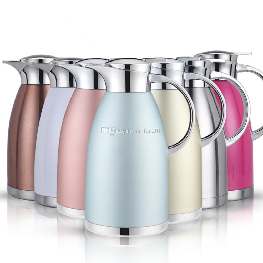 Caldera de vacío caliente y fría de olla de café de 1.8L / 61 oz, 18/10 garrafas térmicas aisladas de acero inoxidable
