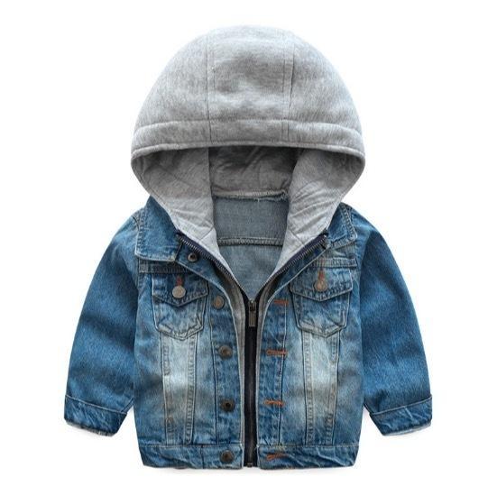 Fashion Baby Boys Coat 2018 New Spring Autumn Wash Soft Denim Coat Hooded Zipper Coat Jeans Jacket For Kids Jackets Children Clothing