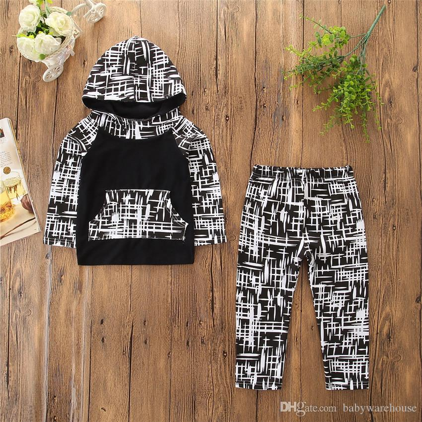 Toddler Boy Clothes Brand New Spring Autumn Boys Clothing Set Hoodie Sweatshirt Tops + Long Pants Infant Boys Outfits Children Kids Clothes