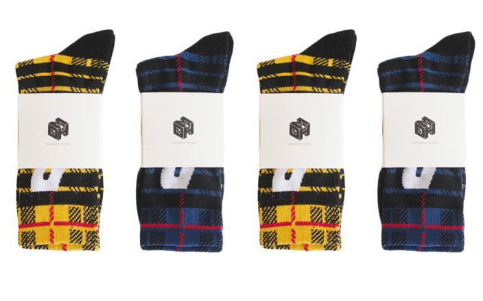 Ins Hot P Letter Socks Men's and Women's Stockings Cotton Terry-Loop Hosiery Harajuku Hip Hop Sport Plaid Socks