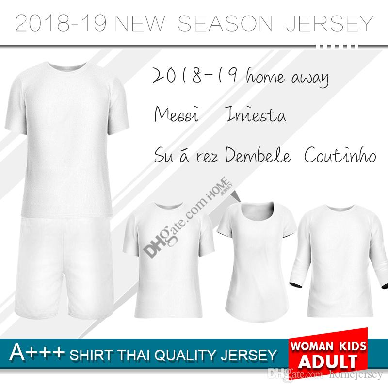 2019 home Soccer Jersey 19-20 home Soccer Shirt Customized O.DEMBELE SUAREZ club team third Football uniform new Custom jersey