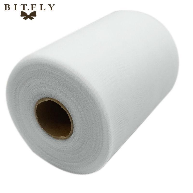 C White Color 6''X100 YARD Matt TULLE Roll Spool 6inch x 100yard (6inch x 300ft) Tutu Wedding Gift Party Bow 20D
