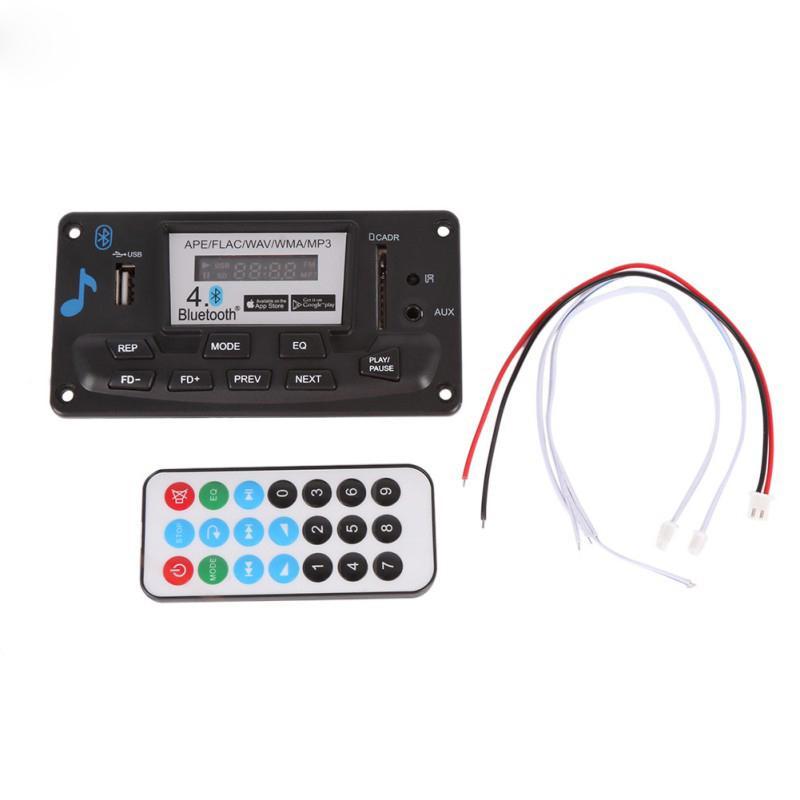 Módulo de Placa de Decodificação Bluetooth MP3 12 V DIY USB / SD / MAC APE WAV DAE Decodificador de Registro MP3 Player AUX FM