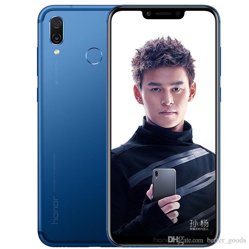 "Huawei Honor d'origine Jouer 4G LTE Cell Phone 4 Go de RAM 64GB ROM Kirin 970 Octa base Android 6.3"" 16.0MP ID d'empreintes digitales OTG Smart Mobile Phone"