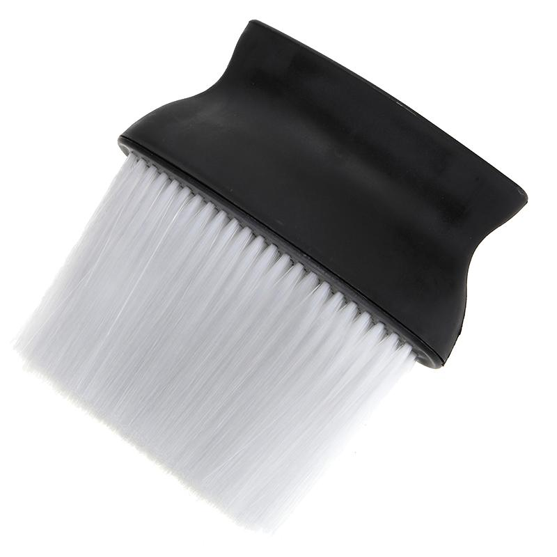 Professional Hair Salon Hairdressing Wide Cleaning Brush Neck Dust Clean Brush Comb Barber Hair Cutting Styling Equipment Black