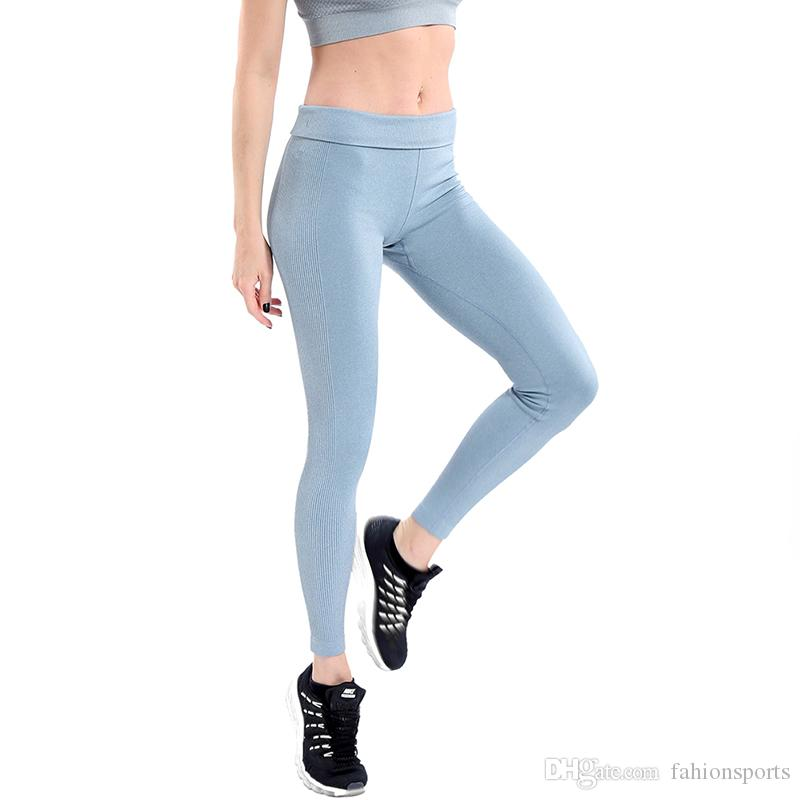 80f48426ae Women Yoga Pants High Elastic Fitness Sport Leggings Tights Slim Running  Sportswear Sports Pants Quick Drying Training Trousers