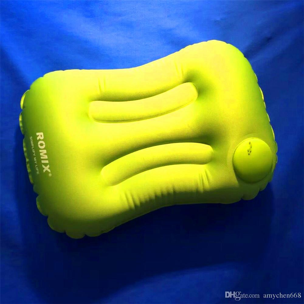 Outdoor Sports Romix pillows Sports Inflatable Pillow Travel Pillow RH15 Operated Manual Pneumatic Hiking Camping Outdoor Gear pillow