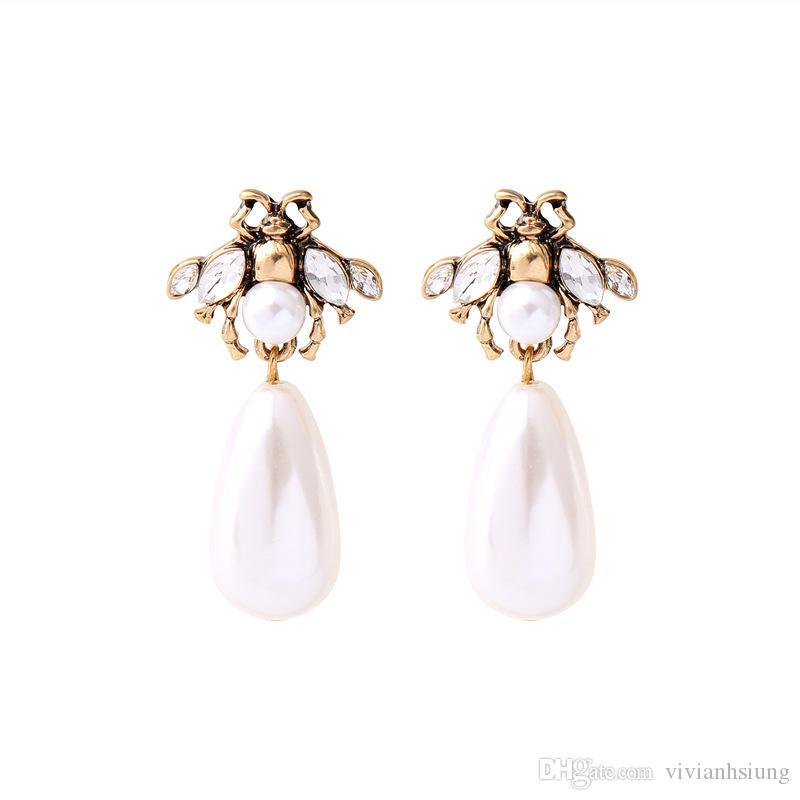 Women Gift Smart Crystal Long Earrings Rhinestone Water Drop Elegant Stud Earring Women Fashion Jewelry