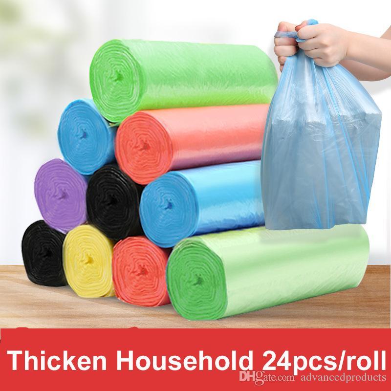 Envío gratis 5 Rollos 50 * 45 CM Tamaño Bolsas de basura desechables de un solo color Grueso Conveniente de limpieza ambiental Bolsa de basura Bolsas de basura de plástico