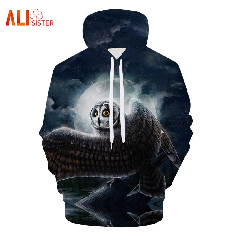 3d Hoody Autumn Winter Mens Sweatshirts Eagle Galaxy Wolf Printed Sweatshirt With Big Pocket Brand Clothes Casual Hooded Outwear