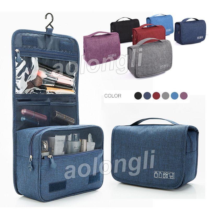 2018 شنقا حقيبة أدوات الزينة غسل السفر المنظم حقيبة ماكياج التجميل حقائب القضية مع شنقا هوك ماء الحمام الحقيبة سعة كبيرة