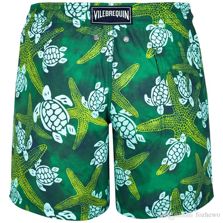 Mens New Style Brand Quick Dry Men's Board Shorts Beach Shorts Sport Swimwear Man gym Bermuda Swimsuit Summer Surf