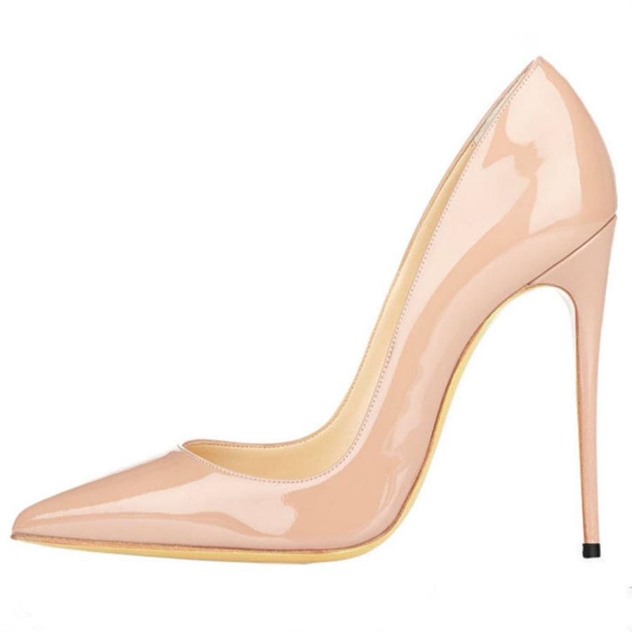 European and American fashion patent leather shoes shallow mouth high-heeled Mary Jane shoes pointed 12/10/8.5 cm high heels