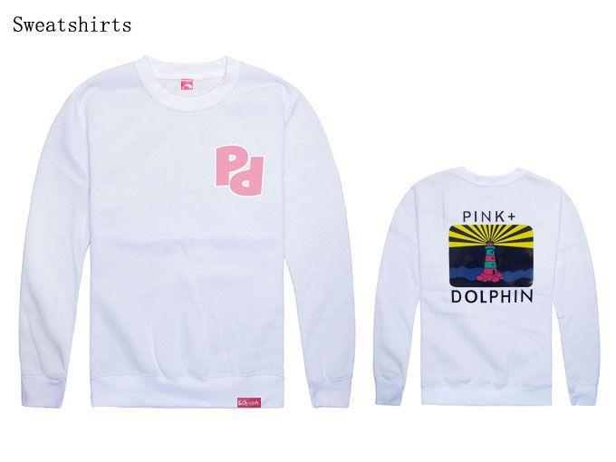 Atacado costa do sul rosa golfinho homens e mulheres hip hop com capuz solto para dança de rua desgaste hip hop camisola